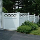 privacy fence panels Ashton 6 ft. H x 8 ft. W White Vinyl Privacy Fence Panel
