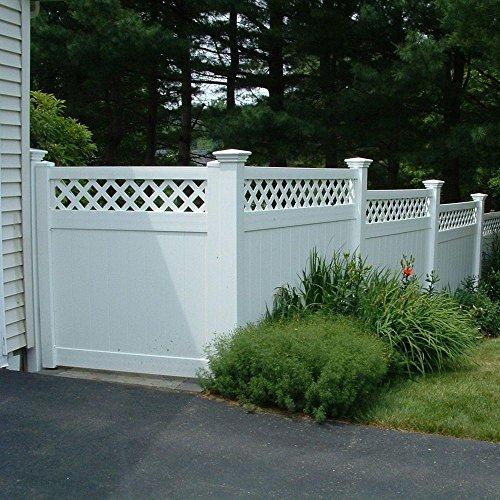 (Ashton 6 ft. H x 8 ft. W White Vinyl Privacy Fence Panel)