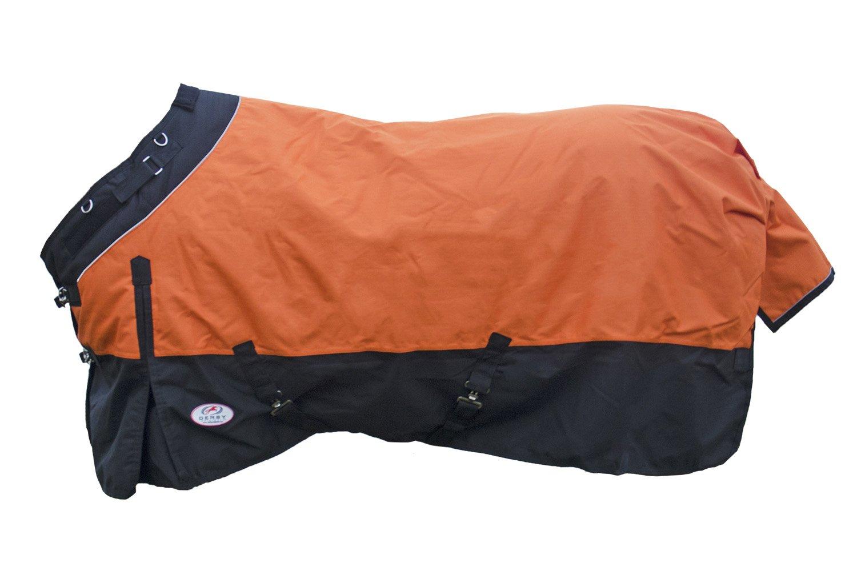 Derby Originals Horse Turnout Blanket Reflective Waterproof Breathable 1200D, 300G 210T (72'', Orange)