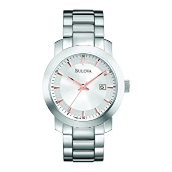 Bulova 96B178 Mens Dress White Watch