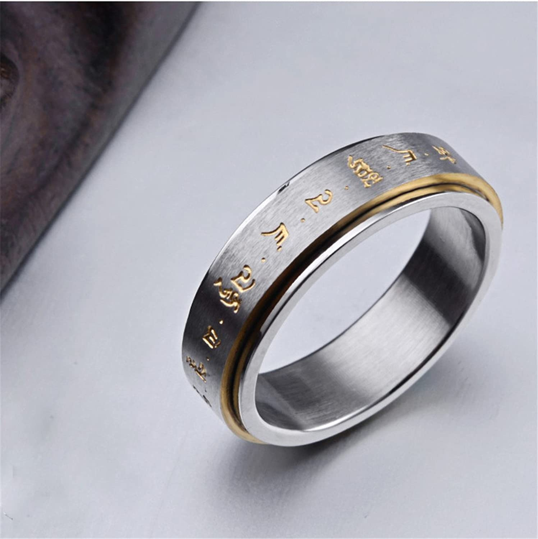 Amazon HIJONES Men s Stainless Steel Buddhist Gold Mantra