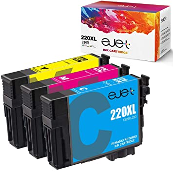 Amazon.com: Cartucho de tinta Epson 220 reciclado, 220 XL ...