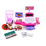 PowerLead Ptoy Y002 Electronic Cash Register Toy Grown Pretend Play Toys