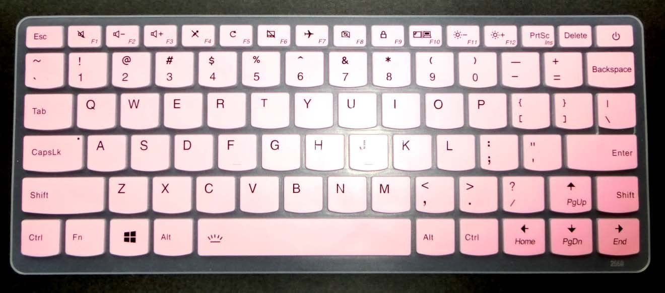 510s-13-inch 710s 13-inch Plus BingoBuy Semi-Light Pink US Layout Keyboard Protector Skin Cover for Lenovo ideapad 710s 13-inch