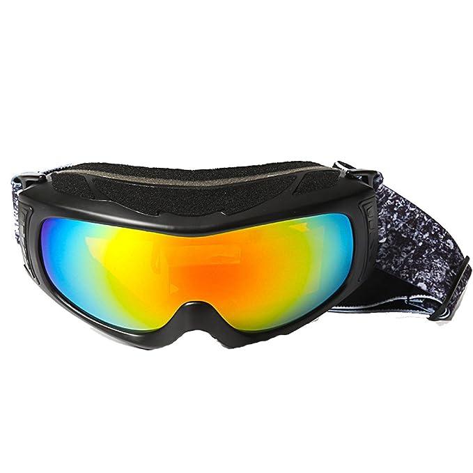 TZQ Esférico Esquí Espejo Gafas Señoras Deporte Doble Alpinismo Hombres Al Aire Libre,Black-
