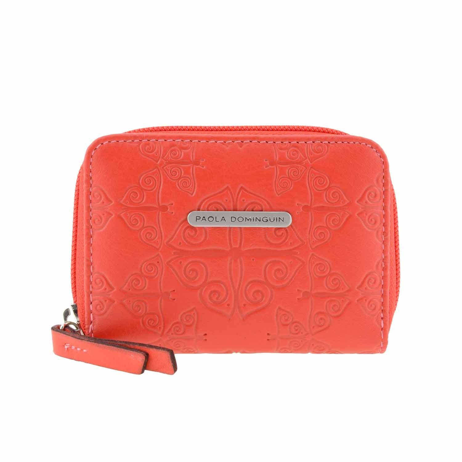 Monedero piel Mariposas de Paola Dominguin Talla: U Color: ROJO: Amazon.es: Ropa y accesorios