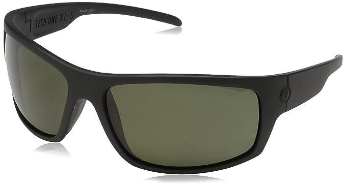 1e54b83d8d Amazon.com  Electric Visual Tech One XLS Matte Black Polarized Grey ...