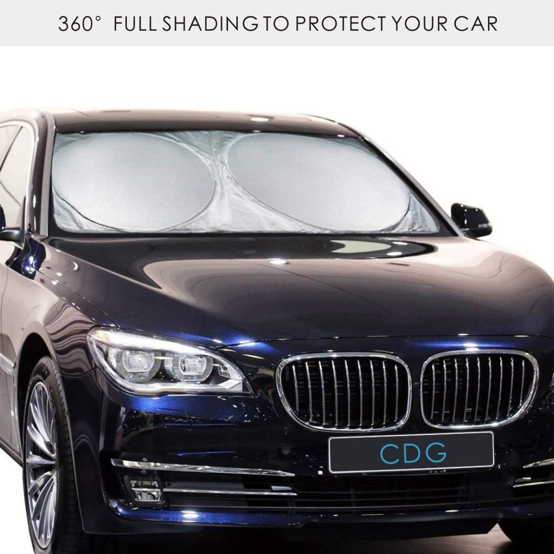 L CDGroup Sommer Auto Sonnenschutz Frontscheibe Leichter Antrag und Das Falten