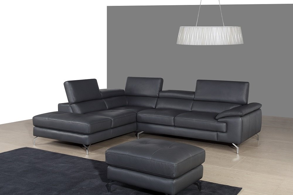 Amazon.com Ju0026M Furniture 17906-LHFC A973 Italian Leather Sectional in Left Hand Facing Kitchen u0026 Dining  sc 1 st  Amazon.com : italian sectional - Sectionals, Sofas & Couches