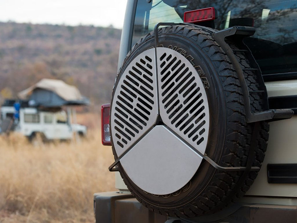 Spare Tire Mount Stainless Steel BBQ Campfire Cooking Grate for Tires up to 37'' - by Front Runner by Front Runner (Image #2)
