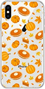 iPhone Xs Max Case,Blingy's New Sweet Food Style Transparent Clear Soft TPU Protective Rubber Case Compatible for iPhone Xs Max(Pumpkin Pie)
