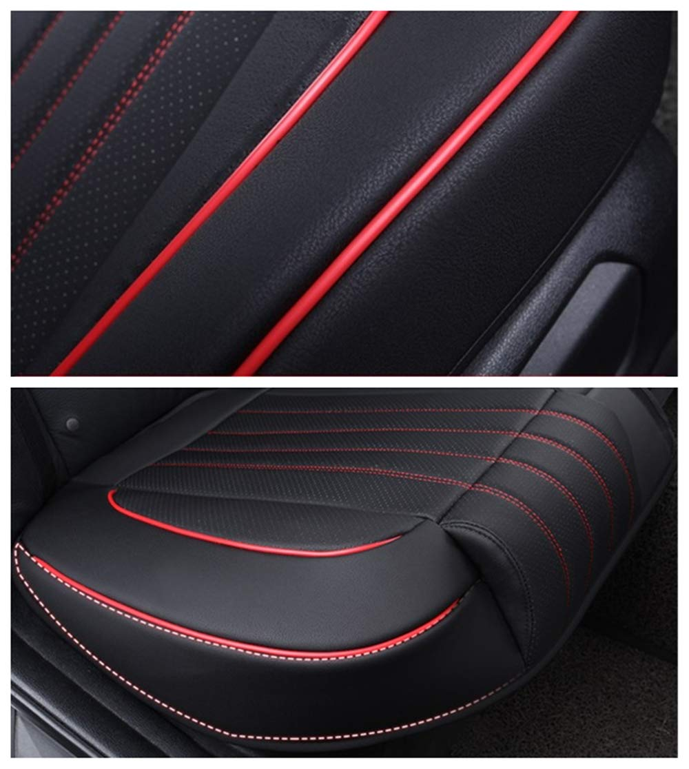 Black Luxury PU Leather Auto Front Driver Seat Cushion Ultra Comfortable Car Seat Protector Ex Wind CN Universal Car Seat Cover