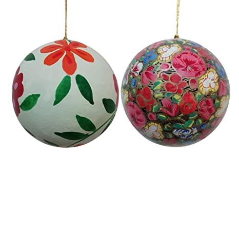 Paper Mache Christmas Ornament.Buy Craftdarbar Handcrafted Paper Mache Christmas Xmas