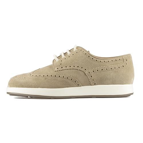 SANTONI Sneaker - Uomo Stringata - Beige - MOD MBVZ13869PMAKSYWE67 Size    7  Amazon.it  Scarpe e borse 3e32d2bc13f