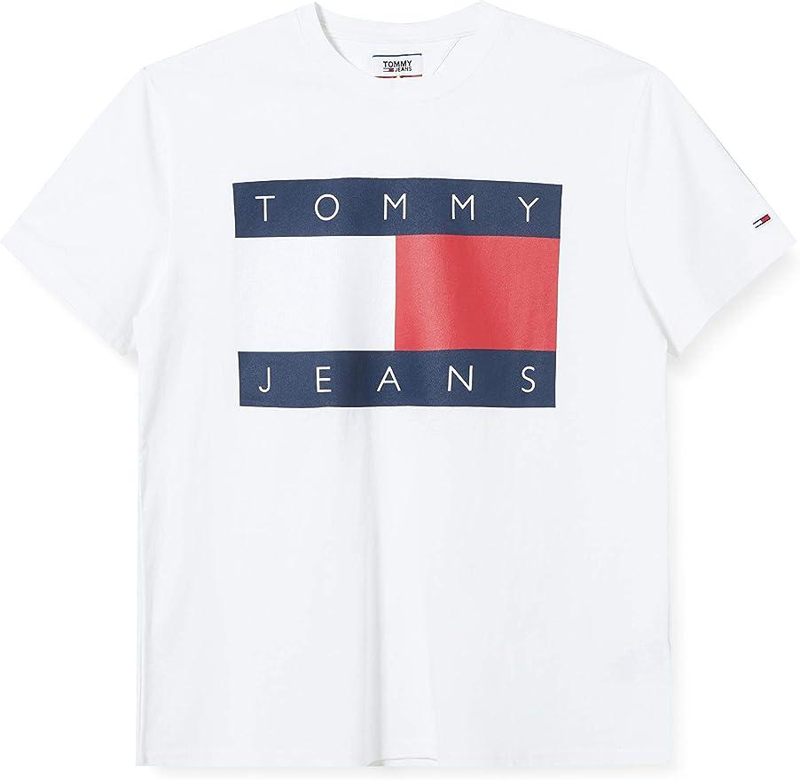 Tommy Jeans Camiseta Big Flag Blanco Hombre XXL Blanco: Amazon.es: Ropa y accesorios