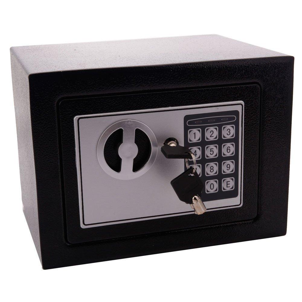 FDegage デジタル金庫 デッドボルトロック付き 壁取り付け式デザイン ブラック B072MFD5X7 ブラック ブラック