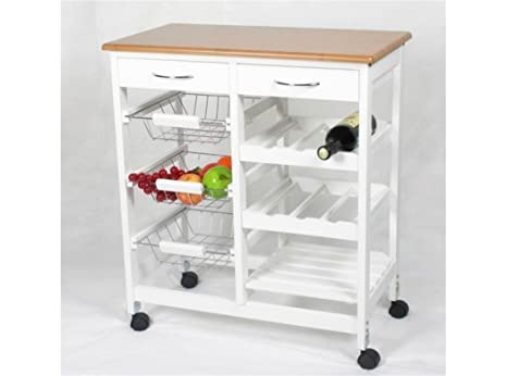 Kit closet 7040028001 carrello da cucina in legno: amazon.it: casa