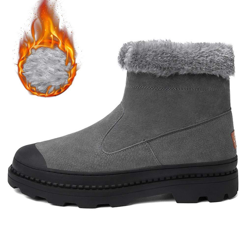 Männer Schuhe Herren Stiefel, Winter Herren Schneestiefel Männlichen Britischen Warme Stiefel Plüsch Samt Lederstiefel Casual Baumwolle Stiefel Männlichen Martin Stiefel Herrenmode Stiefel