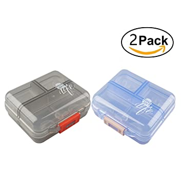 Amazoncom Pill Organizer Case Pocket Container 7 Compartments