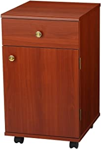 Arrow 802 Suzi Sidekick Portable Sewing, Crafting, and Quilting Storage and Organization Cabinet, Cherry Finish