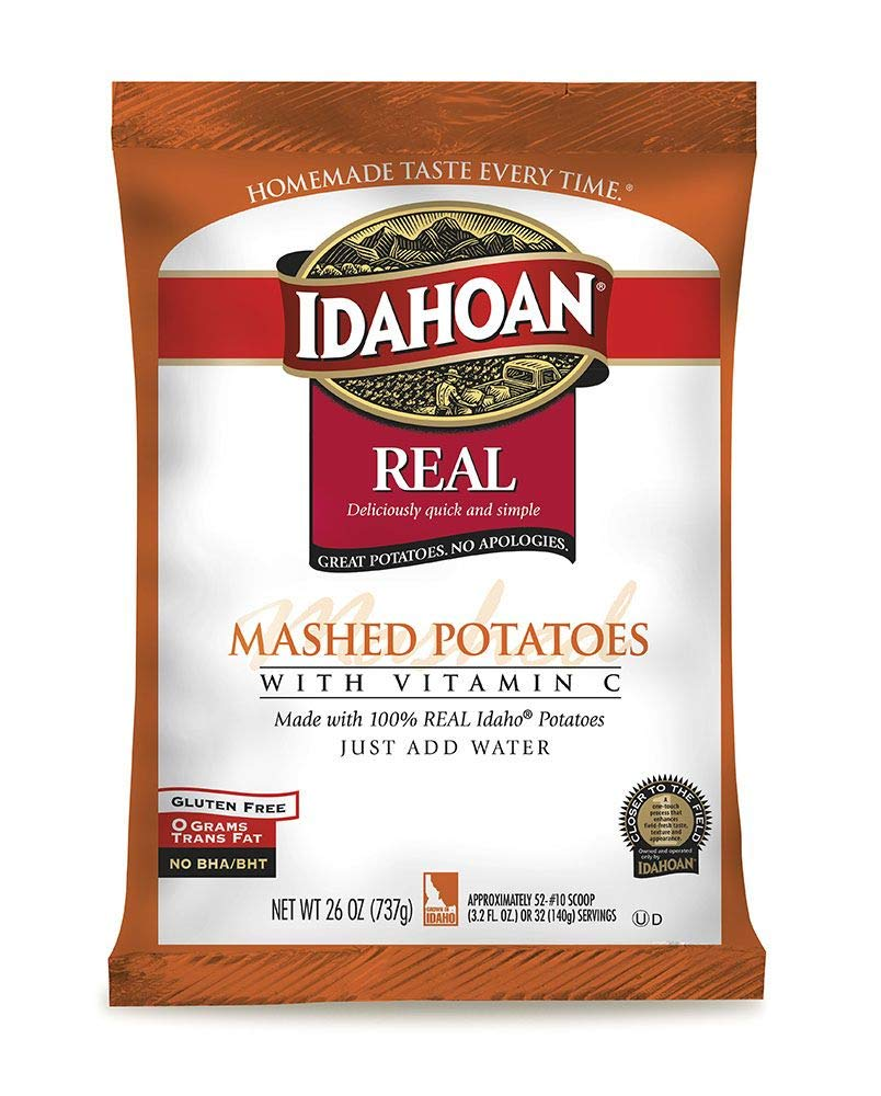 Idahoan Real Mashed Potatoes with Vitamin C, 26 Ounce - 12 per case.