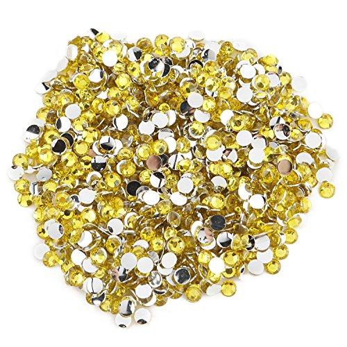 Round Beads for Jewelry Making - Flat Back Clear Crystal Rhinestones (3 mm) Wholesale Bulk - Yazycraft -