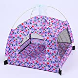 MEIQI Portable Foldable Cute Dots Pet Tent Outdoor Indoor Tent For Kitten Cat Small Dog Puppy Kennel Tents Nest Toy House,Purple