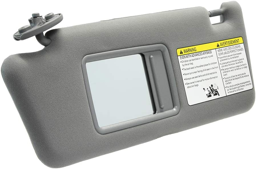 A ABIGAIL Left Driver Side Sun Visor Replacement for Toyota Tacoma 2005 2006 2007 2008 2009 2010 2011 2012 Visor Assembly Without Light 74320-04181-B1 Gray