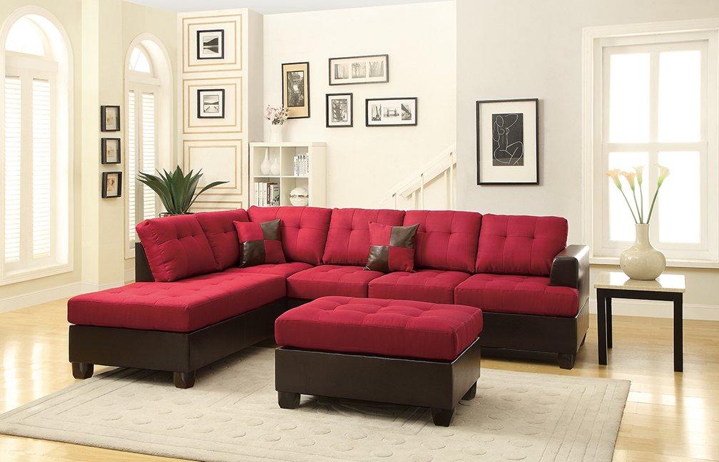 furniture velveteen fabric dp sofa loveseat set fostord brown in dark com poundex cupboard bobkona amazon