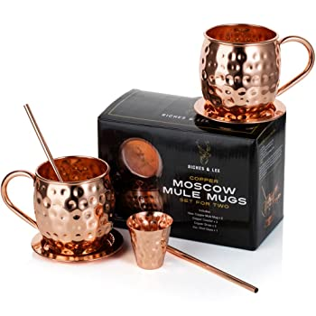 Riches & Lee Moscow Mule Copper Mugs