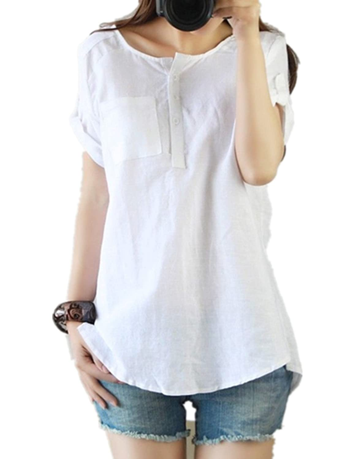 Womens Linen Shirts Blouses Uk