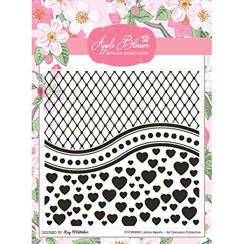 Apple Blossom All Occasion Embossing Folder Lattice Hearts