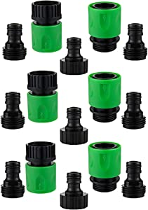 3 Sets of Plastic Garden Hose Quick Connectors- Water Hose Quick Connect Male and Female 3/4