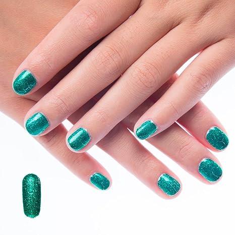 hunpta agrietada roturas de uñas Kit de uñas postizas uñas polaco Set de 8 colores no. Pasa ...