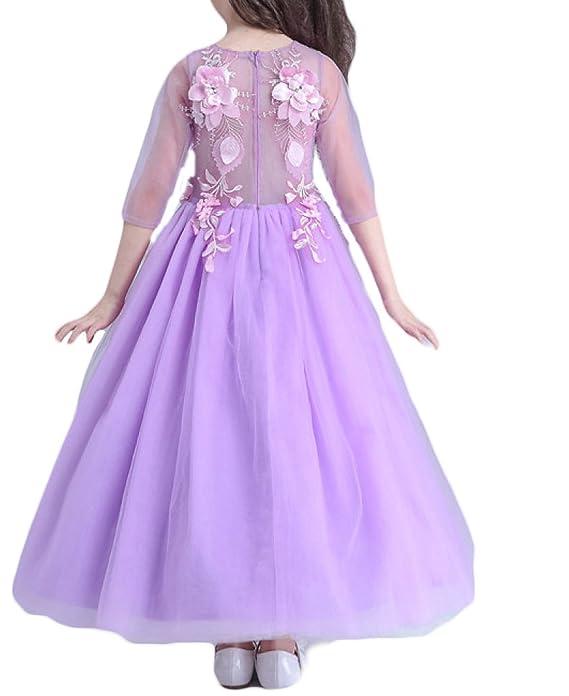 Vestiti Per Bambini Vestiti Da Principessa Gonne Delle Ragazze Delle  Ragazze Vestono Abiti Da Sposa Fioriti Di Fiore 16b1b49e6073