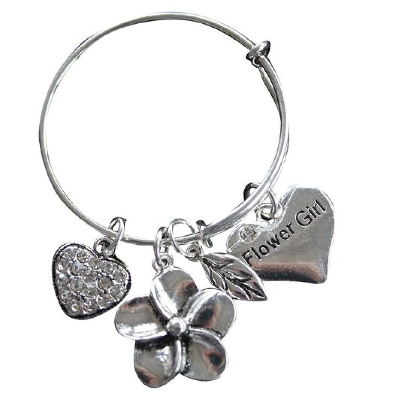 Amazon.com: Flower Girl Bracelet, Flower Gir Jewelry- Bangle ...