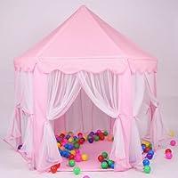 TataYang Filles Tente de jeu et château de princesse Maison pour portable, tente de jeu pour enfants Intérieur/extérieur Maison de fée