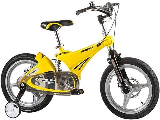 Bicicleta para niños Bicicleta de los niños Amortiguador de aleación de magnesio 14 pulgadas plegable doble disco freno una rueda de bicicleta con rueda de ...