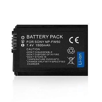 Pudincoco Batería Recargable de Iones de Litio NPFW50 Batería de ...