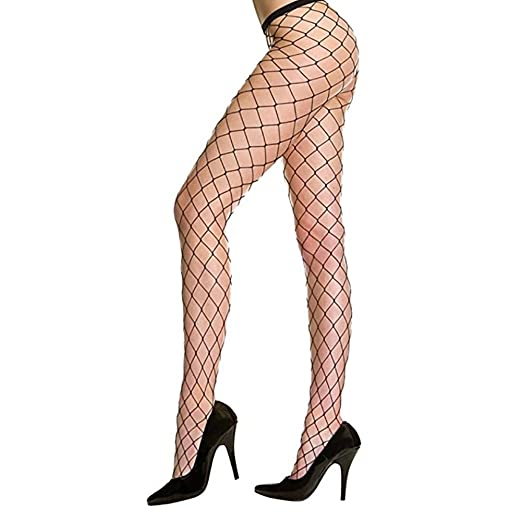9dbf285083f59 Women's Sexy Sheers Net Fishnet Pantyhose Tights (Black Larger Hole ...