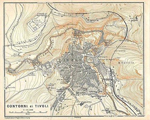 Amazon Com Tivoli Lazio Italy 1928 Color Lithograph City