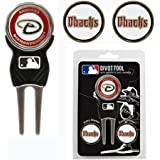 Team Golf MLB Divot Tool with 3 Golf Ball Markers Pack, Markers are Removable Magnetic Double-Sided Enamel