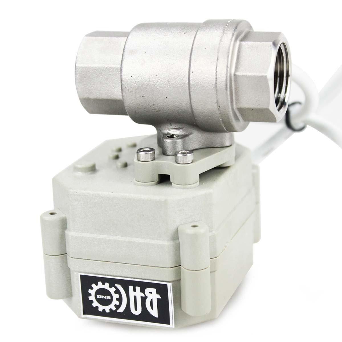 BACOENG AC110-230V 3 Wege 1 Messing Motorkugelhahn Zonenventil CR202C 2 Dr/ähte Elektrische Kugelventil NC