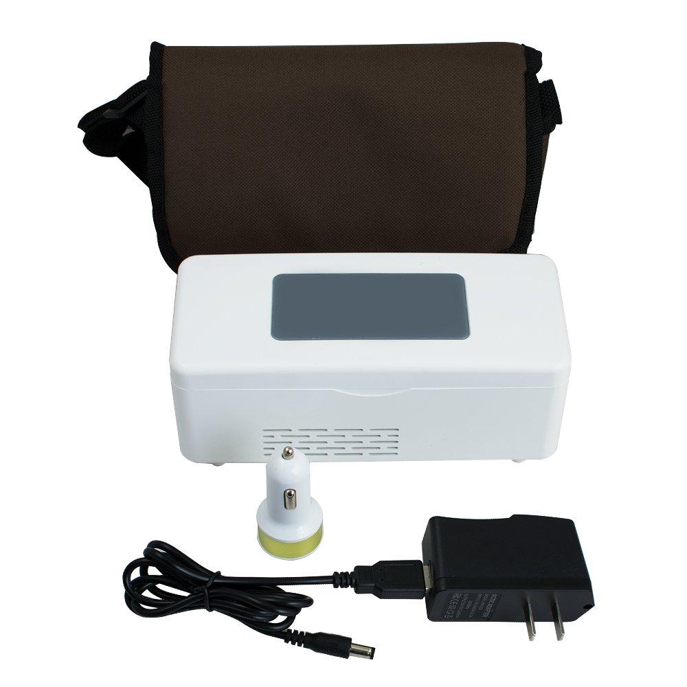 zorvo Portable Insulin Box Mini Drug Portable Reefer Car Small Mini Cold Boxes Drug Reefer Constant Temperature 2-8℃ Drug Reefer Car Outdoor