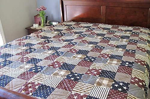 Ashley Cooper Patriotic Patch Print Quilt in King Size (Patriotic Patch Quilt compare prices)