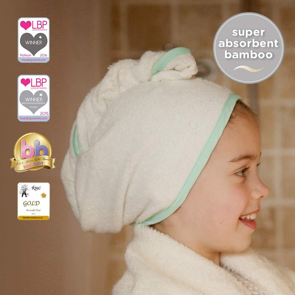 Cuddletwist Childrens Hair Towel with superabsorbent Soft Bamboo by Cuddledry (Pink Candy Stripe) Cuddledry Ltd CHTPKS01