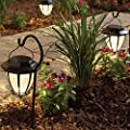 Hampton Bay Matte Black Solar Path Light (4-Pack) Hook included, 93603