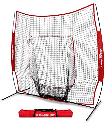 Batting Practice Net - PowerNet Baseball and Softball Practice Net 7 x 7 with bow frame
