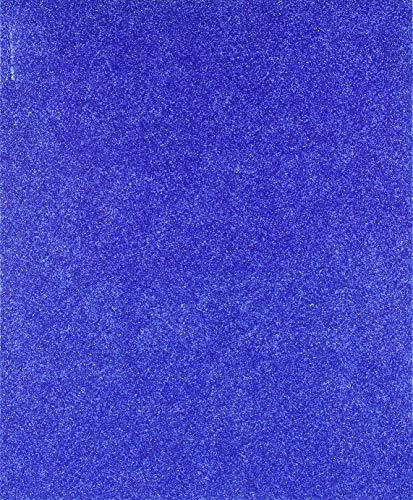 Homeford FNS000007392RYBL Glitter EVA Foam Sheet, 9-1/2-Inch x 12-Inch, Royal Blue