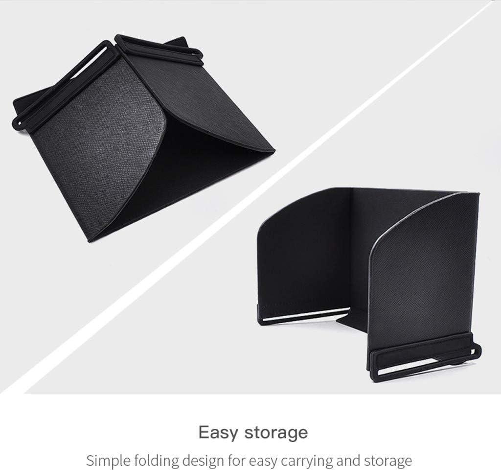 Elaco Remote Controller Phone Monitor Sunshade Lens Hood Sun Shade Shield Compatible with DJI OSMO Mobile 3 Gimbal Black Remote Controller Handheld Sunshade